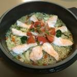 おススメレシピ ボンポットで作るバルサミコ風味パエリア